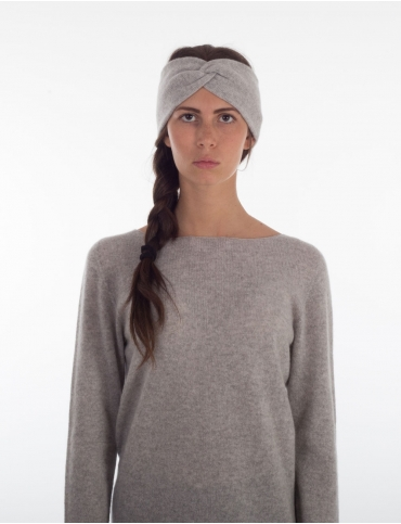 Cashmere knotted headband